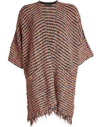 Etro - Textured Cape With Wool - Lyst