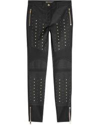 Versace - Skinny Jeans mit Baumwolle und Nieten - Lyst