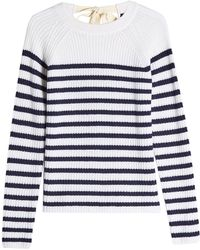 JOSEPH - Striped Cashmere Pullover With Ribbon Tie - Lyst