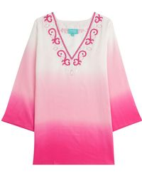 Taj - Ombre Silk Tunic With Beading - Lyst