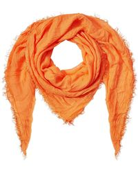 Faliero Sarti - Fringed Scarf With Cashmere - Lyst