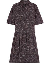Public School - Bedrucktes Kleid mit Stehkragen - Lyst