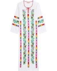 Muzungu Sisters - Jasmine Vine Embroidered Cotton Dress - Lyst
