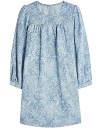 Marc Jacobs - Denim Babydoll Dress - Lyst