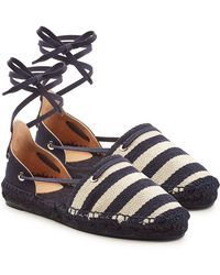 Castaner - Kaki Espadrilles With Ankle Ties - Lyst