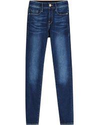 FRAME - Le Skinny De Jeanne Cropped Skinny Jeans - Lyst