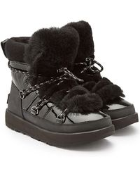 UGG - Highland Waterproof Moon Boots With Patent Leather And Wool - Lyst