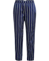 Closed - Striped Pants With Cotton - Lyst
