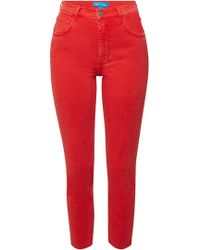 M.i.h Jeans - Mimi Cropped Distressed Skinny Jeans - Lyst