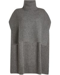 Rosetta Getty - Ribbed Cashmere Turtleneck Poncho - Lyst