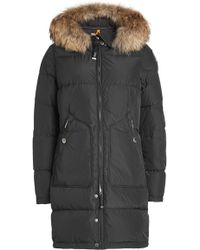 Parajumpers - Light Long Bear Down Parka With Fur-trim - Lyst