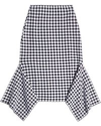 Rosetta Getty - Printed Cotton-blend Skirt With Handkerchief Hem - Lyst