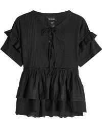 The Kooples - Embroidered Cotton Top - Lyst