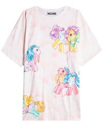 Moschino - Little Pony Printed Cotton T-shirt - Lyst