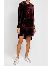 Lala Berlin | Velvet Sweatshirt Dress | Lyst