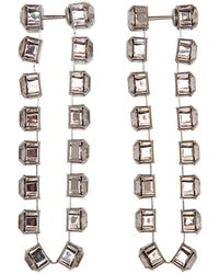Christopher Kane - Cupchain Embellished Earrings - Lyst