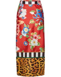 Stella Jean - Printed Pencil Skirt - Lyst