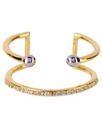 Luv Aj - Open Barbell Ring In Gold - Lyst