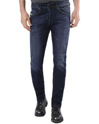 DIESEL - Belther 0814w Slim Tapered Fit Stretch Jeans - Lyst