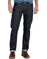 Lee Jeans - Daren Dark Blue Rinse Straight Fit Jeans - Lyst