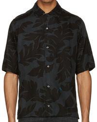 DIESEL - S-westy Leaf Print Short Sleeve Shirt-black - Lyst