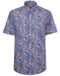 Pretty Green - Short Sleeve Camley Paisley Shirt - Lyst