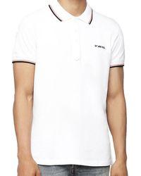 a9c9a119b DIESEL T-randy Broken Logo Black & Yellow Polo Shirt in Black for ...