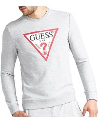 1b6d26d98 Guess Jared Sweatshirt in Blue for Men - Lyst