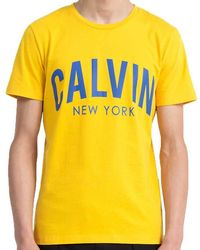 CALVIN KLEIN 205W39NYC - Jeans Mens Spectra Yellow Tibokoy Slim Fit T-shirt - Lyst