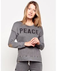Sundry - Peace High-low Crewneck Pullover - Lyst