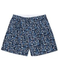 Sunspel - Men's Liberty Printed Cotton Boxer Shorts In Blue Bloom - Lyst