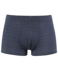 Sunspel - Men's Stretch Cotton Boxer Short In Geo Dash Navy - Lyst