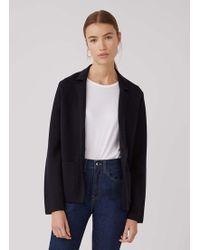 Sunspel - Women's Merino Wool Knitted Milano Blazer In Navy - Lyst