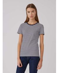 Sunspel - Women's Cotton Classic T-shirt In Navy Stripe - Lyst