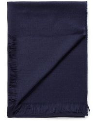 Sunspel - Lightweight Gauzys Scarf In Navy - Lyst