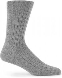 Sunspel - Cashmere Socks In Mid Grey Melange - Lyst