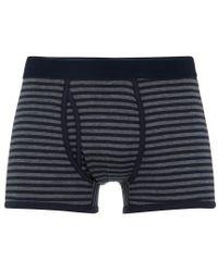 Sunspel - Men's Superfine Cotton Trunks In Charcoal / Navy - Lyst