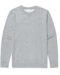 Sunspel - Men's Cotton Loopback Sweatshirt In Grey Melange - Lyst