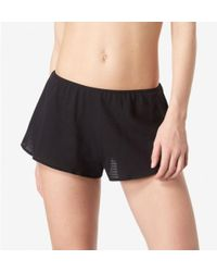 Sunspel - Women's Cellular Cotton French Knickers In Black - Lyst