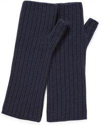 Sunspel - Women's Cashmere Fingerless Gloves In Navy - Lyst