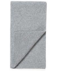 Sunspel - Cashmere Rib Scarf In Mid Grey Melange - Lyst
