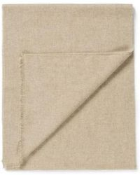 Sunspel - Extra Fine Merino Wool Scarf In Oatmeal - Lyst