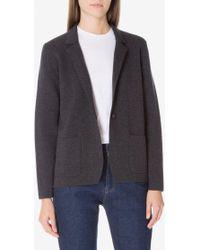 Sunspel - Women's Merino Wool Knitted Milano Blazer In Charcoal Melange - Lyst