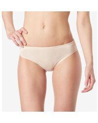 Sunspel - Women's Brief In Superfine Cotton In Light Nude - Lyst