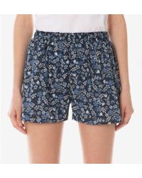 Sunspel - Women's Cotton Liberty Print Boxer Short In Blue Bloom - Lyst