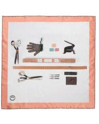 Sunspel - Women's Archive Tools Print Silk Scarf - Lyst