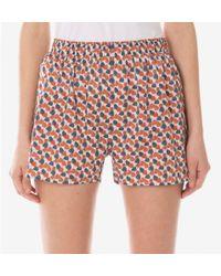 Sunspel - Women's Cotton Liberty Print Boxer Short In Winter Petals - Lyst