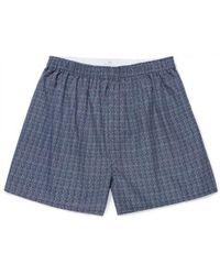 Sunspel - Men's Cotton Boxer Shorts In Navy/white - Lyst