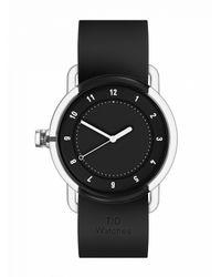 TID - No.3 Tr90 Black / Black Silicone Wristband - Lyst
