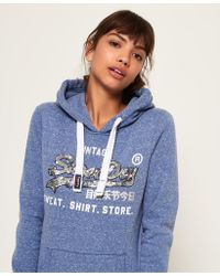 Superdry - Shirt Shop Sequin Hoodie - Lyst